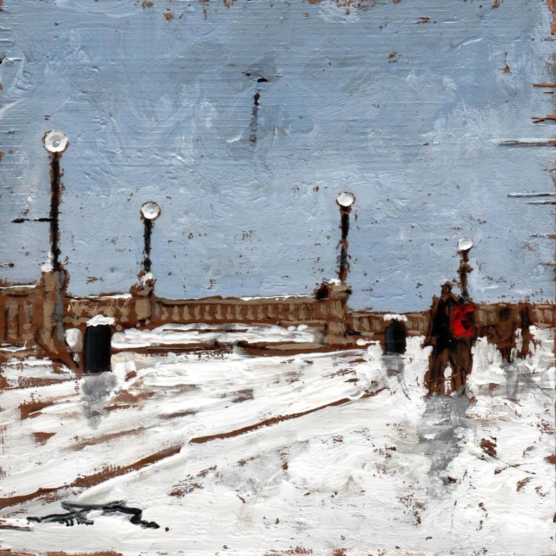 la neve alla terrazza