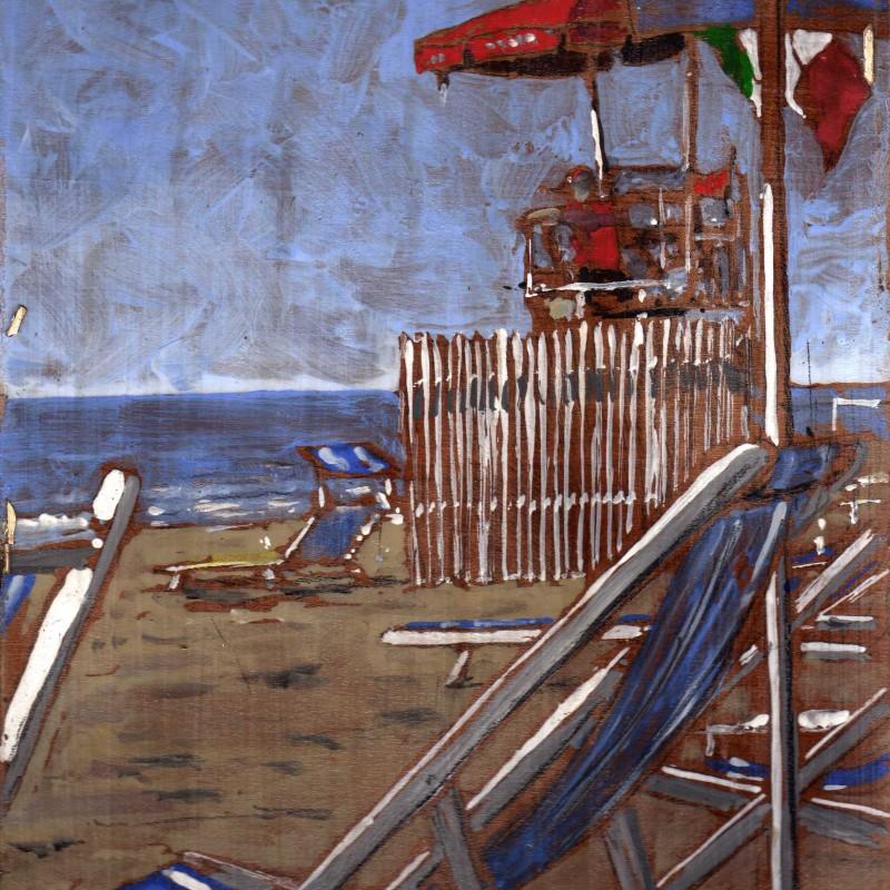 a retro etichetta 59° mostra del Gruppo Labronico Viareggio . certificato di autenticità su foto dell'Artista