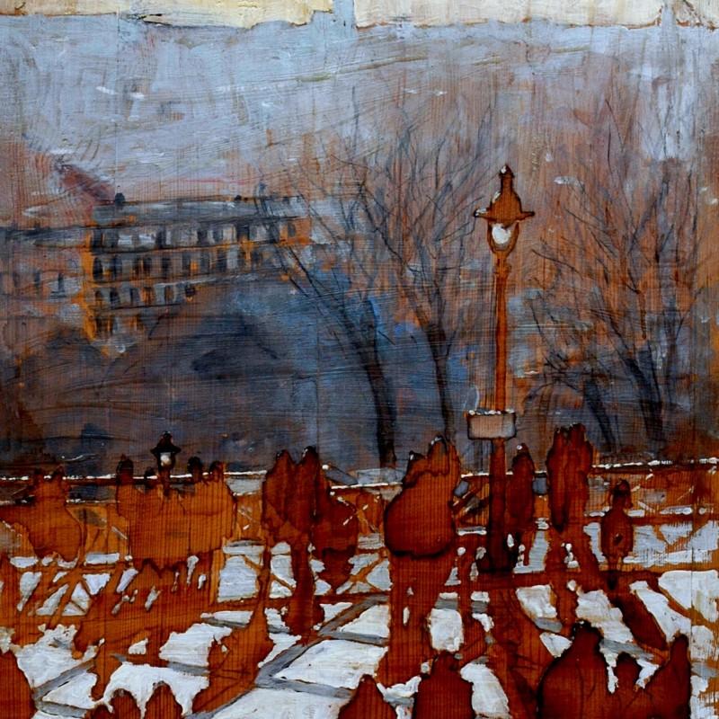 Coucher de soleil a Montmatre, tempera su tavola cm. 98 x 59.