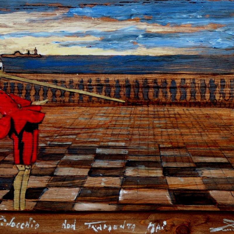 Pinocchio non tramonta mai, tempera su tavola cm. 50 x 62.
