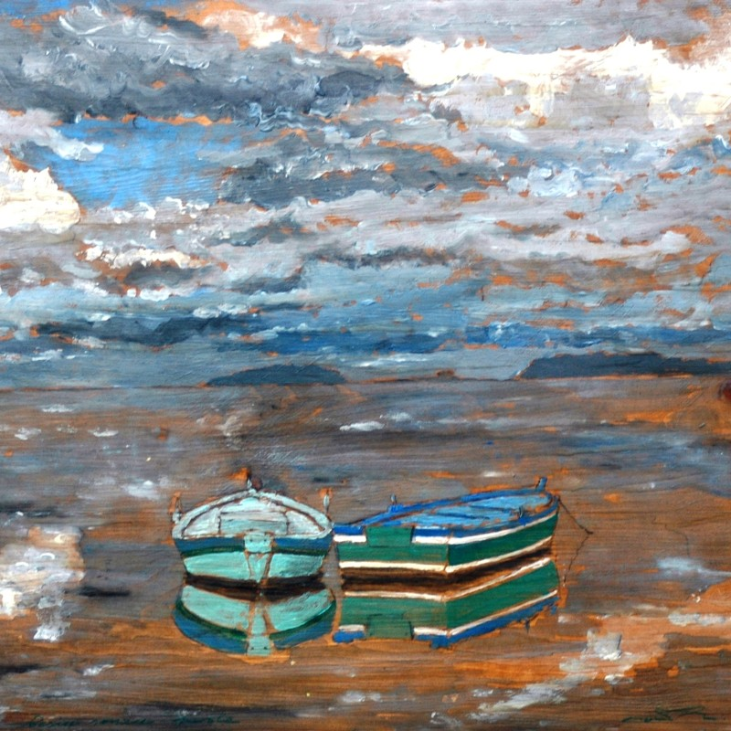 Poesia senza parole, tempera su tavola cm. 66 x 73