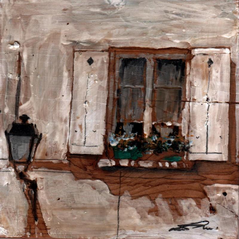 Le blanc tempera su tavola cm. 17 x 17