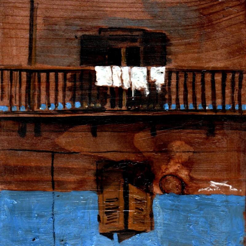 Di blu tempera su tavola cm. 17 x 17
