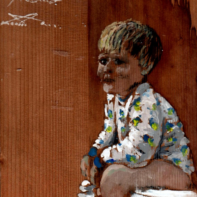 il tenero Giacomo tempera su tavola cm. 35 x 23