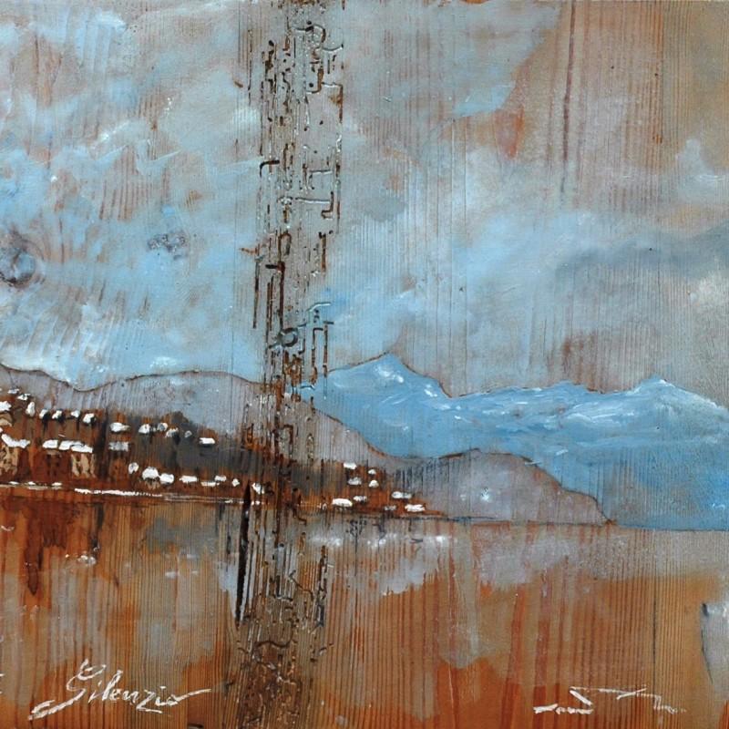 silente silenzio tempera su tavola cm. 38 x 67