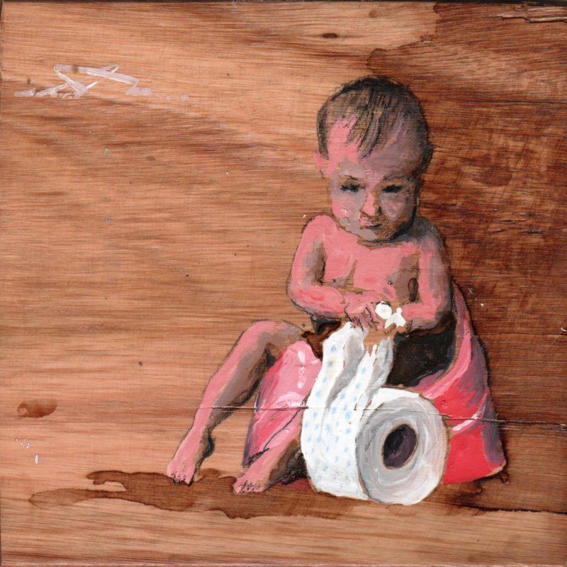 sul vasino tempera su tavola cm.17 x 17