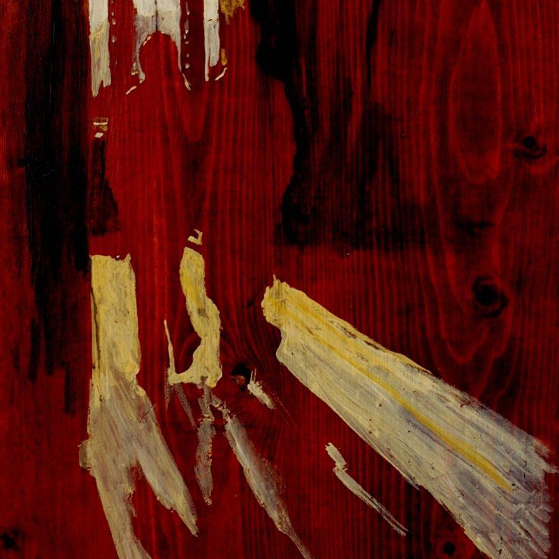 alla fine del corridoio mi guidò la luce tempera su tavola cm. 77 x 138