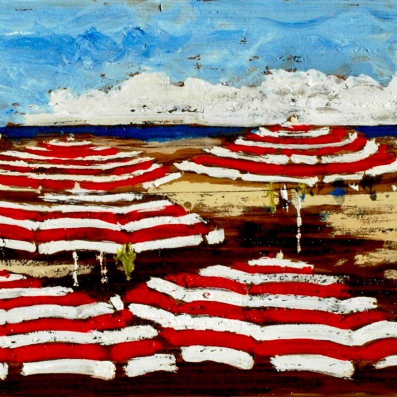 filo di mare tempera su tavola cm. 30 x 60