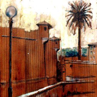 Cinquecento livornese tempera su tavola cm. 41 x 39